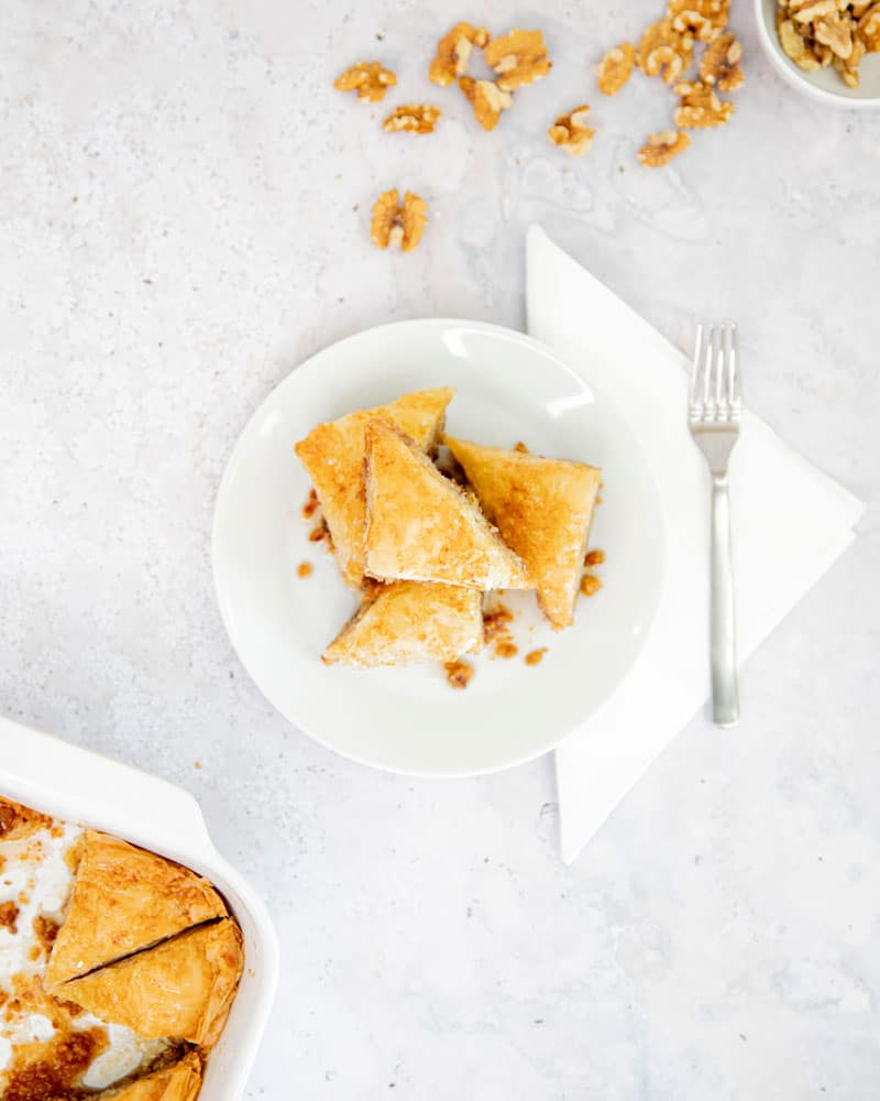 Assiette de baklavas