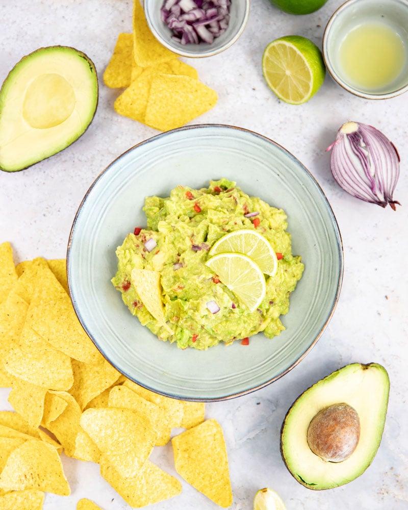 Assiette de guacamole
