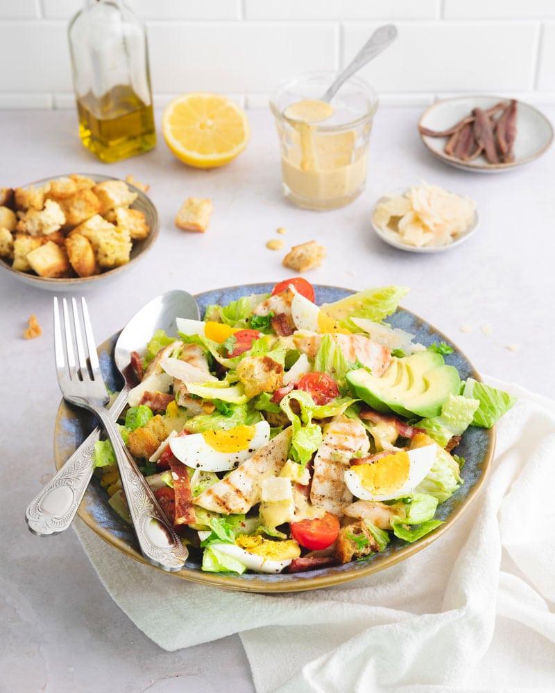 Assiette de salalde césar
