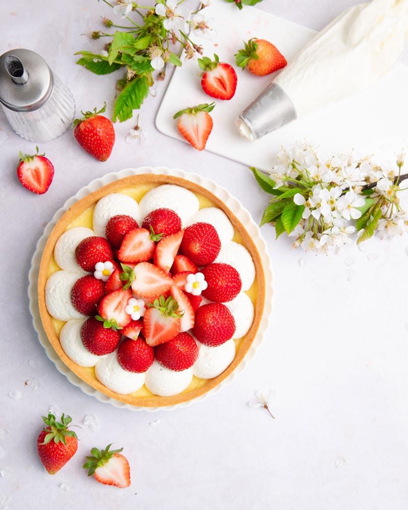 Croûtes aux fraises