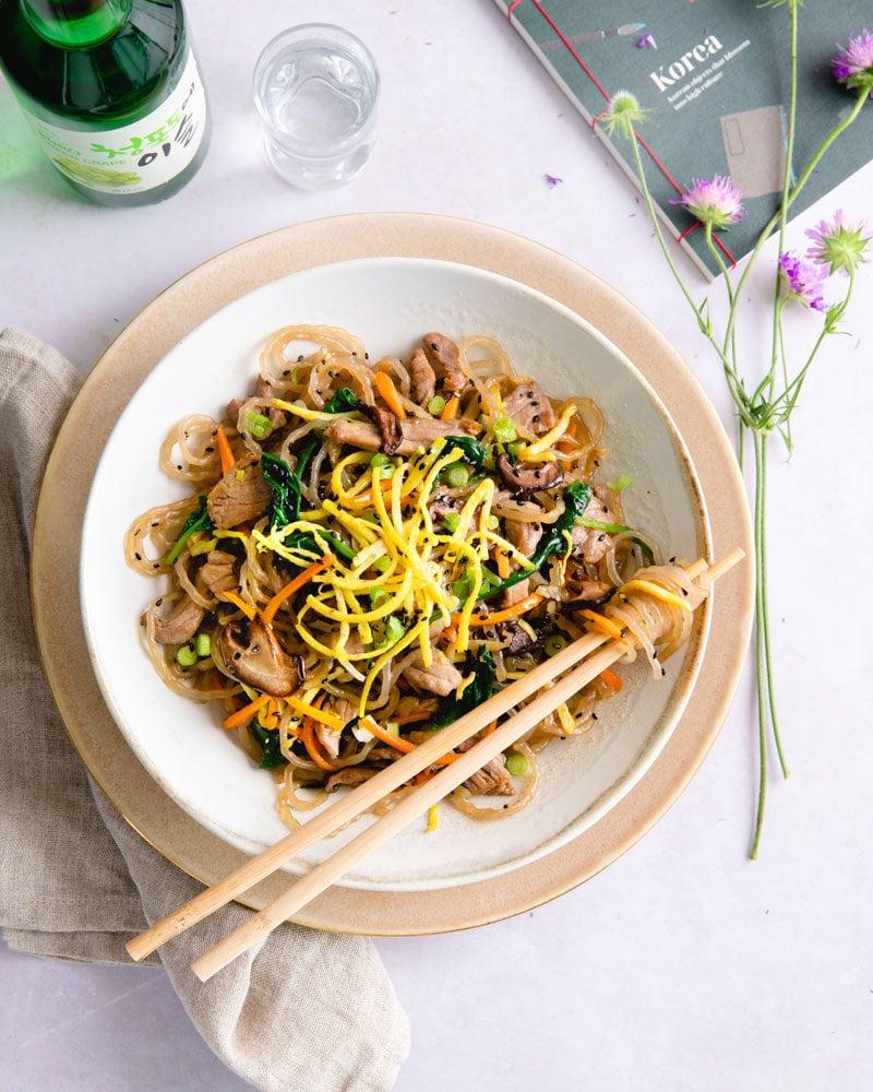 Comment préparer un japchae au bœuf coréen ?