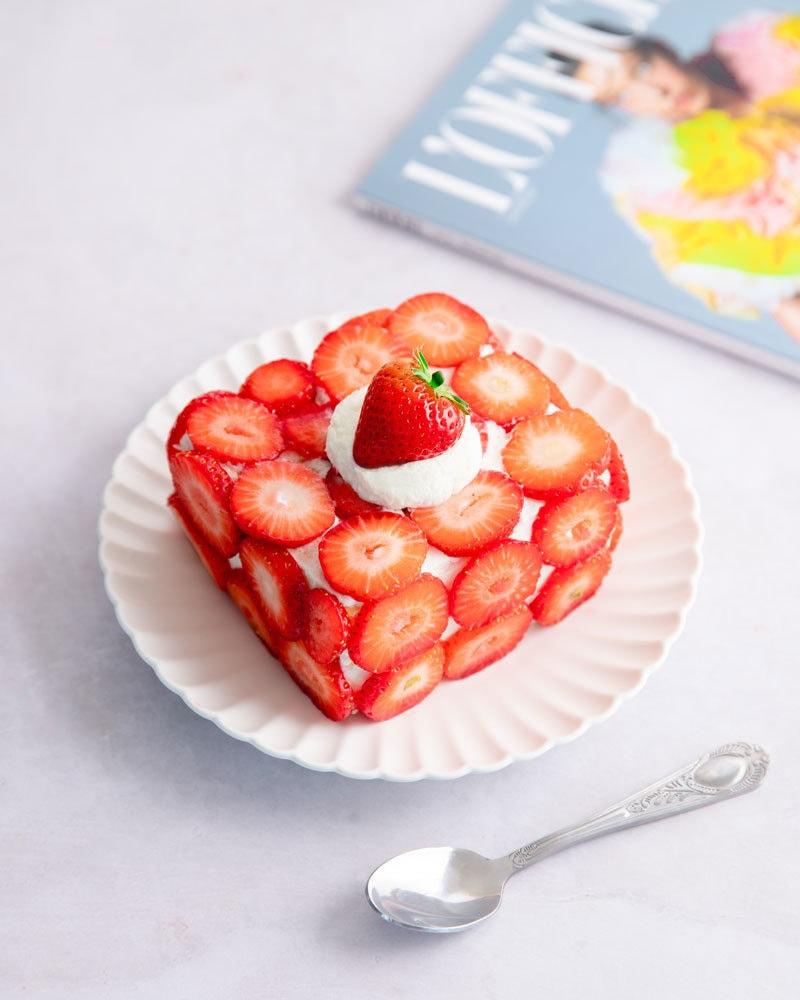 Le ddalgi-ddalgi cake, la version coréenne du strawberry shortcake !